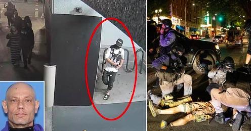 Antifa Terrorist Lying In Wait